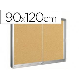 Vitrina de anuncios Q-Connect marco de aluminio 120x90 cm
