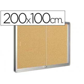 Vitrina de anuncios Q-connect marco de aluminio 200x100 cm