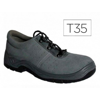 Zapatos Faru de seguridad con puntera de acero color gris talla 35