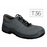Zapatos Faru de seguridad con puntera de acero color gris talla 36