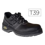 Zapatos de seguridad Deltaplus de piel crupon grabada con forro absorbente y plantilla de latex color negro talla 39