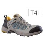Zapatos de seguridad Deltaplus x-run de piel serraje nobuck puntera y suela composite gris-naranja talla 41