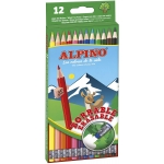 Alpino AL013654 - Lápices de colores borrables, caja de 12 colores