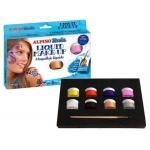 Alpino Liquid DL000100 - Botes de maquillaje liquido, caja de 8 colores surtidos, botes de 10 g