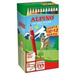 Alpino School Pack C0131144 - Lápices de colores, caja de 132 colores + 12 colores de obsequio