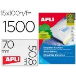 Apli 01295 - Etiquetas adhesivas, 70 x 50,8 mm, caja de 100 hojas