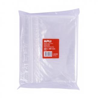 Apli 13133 - Bolsas de plástico autocierre, 250 x 330 mm, paquete de 100 unidades