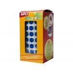 Apli 4852 - Gomets, figuras geométricas forma redonda, 10,5 mm de diámetro, rollo de 5192 unidades, color azul