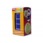 Apli 4876 - Gomets, figuras geométricas forma cuadrada, 20 x 20 mm, rollo de 1770 unidades, color azul