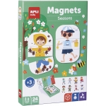 Apli Kids Magnets Seasons 17160 - Juego magnético, temática estaciones