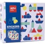 Apli Kids Stickers Box 18359 - Juego de gomets geométricos, temática vehículos
