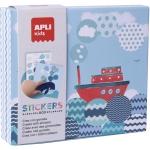 Apli Kids Stickers Box 18363 - Juego de gomets geométricos, temática barco