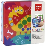 Apli Kids Stickers Box 18530 - Juego de gomets geométricos, temática dino