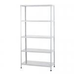 Ar Storage K1PP040B4BB01 - Estantería metálica, 180 x 90 x 40 cm, 5 estantes, 80 kg por estante, color blanco