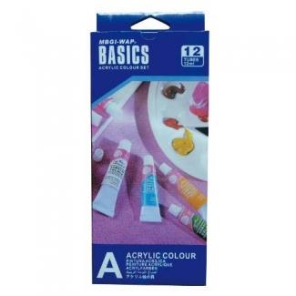 Artist A1212E - Pintura acrilica, tubos de 12 ml, caja de 12 colores surtidos