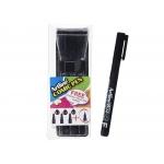 Artline Comic Pen EK-280/3W - Rotulador calibrado, pack de 3 (0,2, 0,4 y 0,8) + permanente, color negro