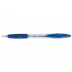 Bic Atlantis 887131 - Bolígrafo de tinta de aceite, punta redonda de 1 mm, retráctil, sujeción de caucho, color azul