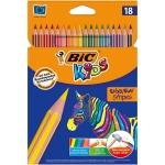 Bic Kids Evolution Stripes 950524 - Lápices de colores, caja de 18 colores