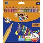 Bic Kids Evolution Stripes 950525 - Lápices de colores, caja de 24 colores