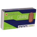 Bismark 312590 - Grapas Nº 22/6 - 24/6, cobreada, caja de 1.000