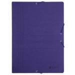 Bismark 315998 - Carpeta de cartón con gomas y solapas, tamaño folio, color azul