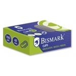Bismark 318275 - Clips metálicos, niquelados, nº 3 de 42 mm, caja de 100