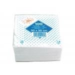Blanca T221131 - Servilletas de algodón, 1 capa, 30 x 30 cm, paquete de 100 unidades