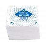 Blanca T222033 - Servilletas de algodón, 2 capas, 30 x 30 cm, paquete de 100 unidades