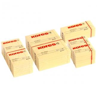 Bloc de 100 notas adhesivas quita y pon 75x75 mm Kores de Grafoplás