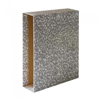 Grafoplás 07170071 - Caja para archivador, tamaño folio, lomo ancho, color gris jaspeado