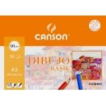 Canson Basik 200403159 - Láminas de dibujo, con recuadro, A3, sobre de 10 hojas, 130 gramos