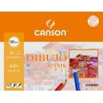 Canson Basik 200406346 - Láminas de dibujo, con recuadro, A4+, sobre de 10 hojas, 130 gramos