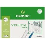 Canson Guarro Basik 200400787 - Papel vegetal, A3, 90 gramos, sobre de 12 hojas