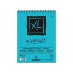 Canson XL Aquarelle C400039171 - Papel acuarela, sin recuadro, bloc con espiral, A3, 30 hojas, 300 gramos