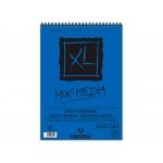 Canson XL Mix-Media C200807215 - Papel acuarela, sin recuadro, bloc con espiral, A4, 30 hojas, 300 gramos