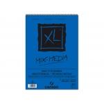 Canson XL Mix-Media C200807216 - Papel acuarela, sin recuadro, bloc con espiral, A3, 30 hojas, 300 gramos