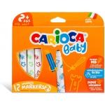 Carioca Baby - Rotuladores de colores, caja de 12 colores