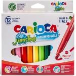 Carioca Jumbo - Rotuladores de colores, caja de 12 colores