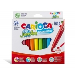 Carioca Jumbo - Rotuladores de colores, caja de 24 colores