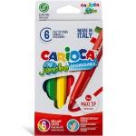 Carioca Jumbo - Rotuladores de colores, caja de 6 colores