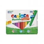 Carioca Plastello Maxi - Ceras duras, caja de 12 colores