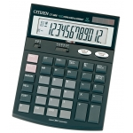 Citizen CT-666 - Calculadora de sobremesa, 12 dígitos