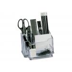 Csp P-950-ST - Cubilete organizador de sobremesa con accesorios, transpaente