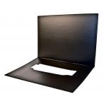 Csp - Vade de sobremesa doble, 48 x 34 cm, color negro