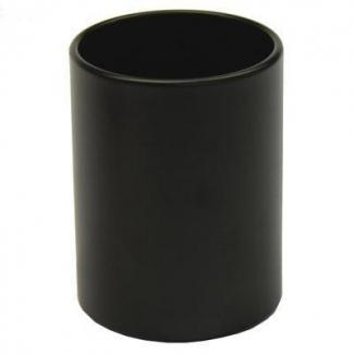 Cubilete portalápices metálico redondo color negro
