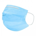 Cvm - Mascarilla higiénica desechable de tres capas, color azul