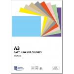 Distrimar DCT15 - Paquete de 100 cartulinas, A3, 180 gr/m2, color blanco