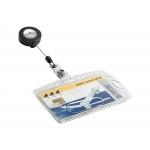 Durable 8012-19 - Identificador con cordón extensible, 85 mm x 54 mm