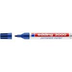 Edding 3000 - Rotulador permanente, punta redonda de 1,5 mm, color azul