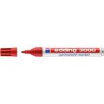 Edding 3000 - Rotulador permanente, punta redonda de 1,5 mm, color rojo
